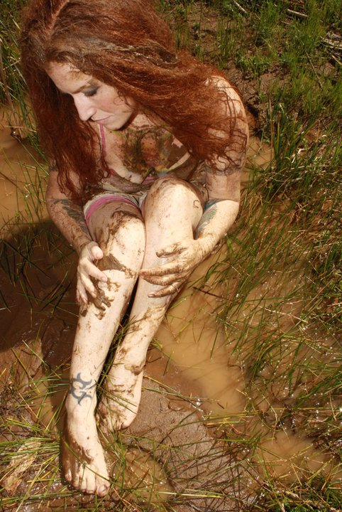 In the Mud, by Jamileh Simone Dille, model, Lasara Allen