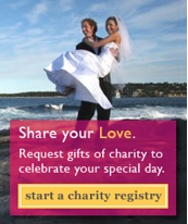 create a charity wedding registry with the i do foundation
