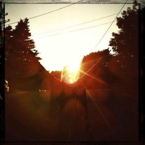 Figure in sunshine