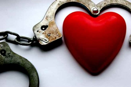 Red Heart and Handcuffs