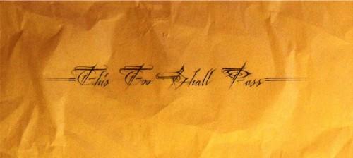 """""""This Too Shall Pass"""" - DukeOne"""