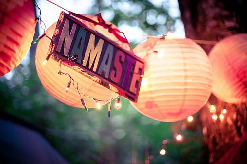 Namaste and lanterns