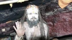 A Aghori sadhu in a cave near badrinath