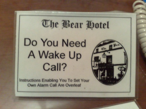 Wake-up calls actually come from within you.