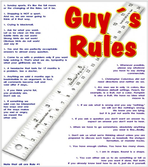 rules for dating a guy