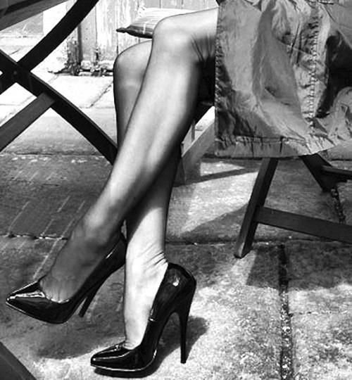 Nylon and high heels