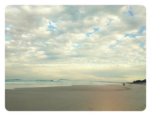 Walking with Zaia at New Brighton Beach
