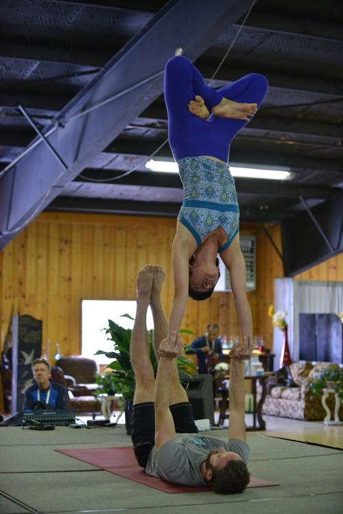 Ryan and Yuki balancing on hands