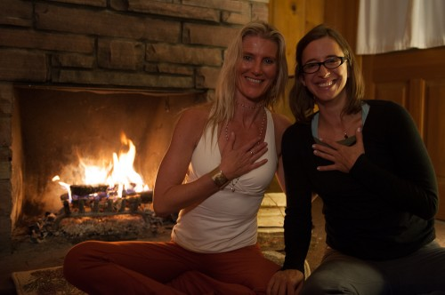 Shiva Rea with Jessica Durivage of Where is my Guru for there fireside interview