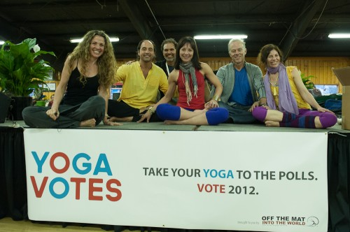 The Yoga Votes class in the marketplace