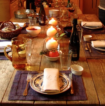 Beautiful table setting Italy holidays