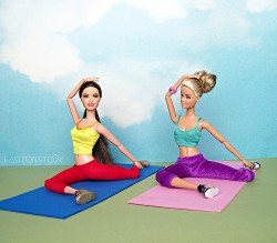 Yoga Barbies