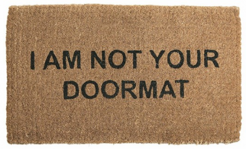 doormat door mat idiot compassion
