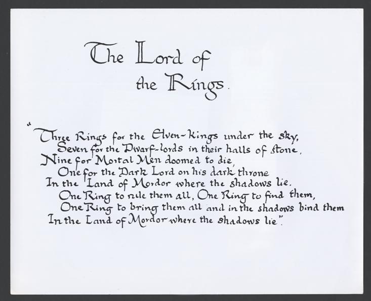 Black Speech Ring Verse