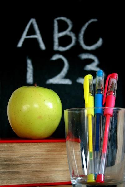 school apple blackboard student teacher