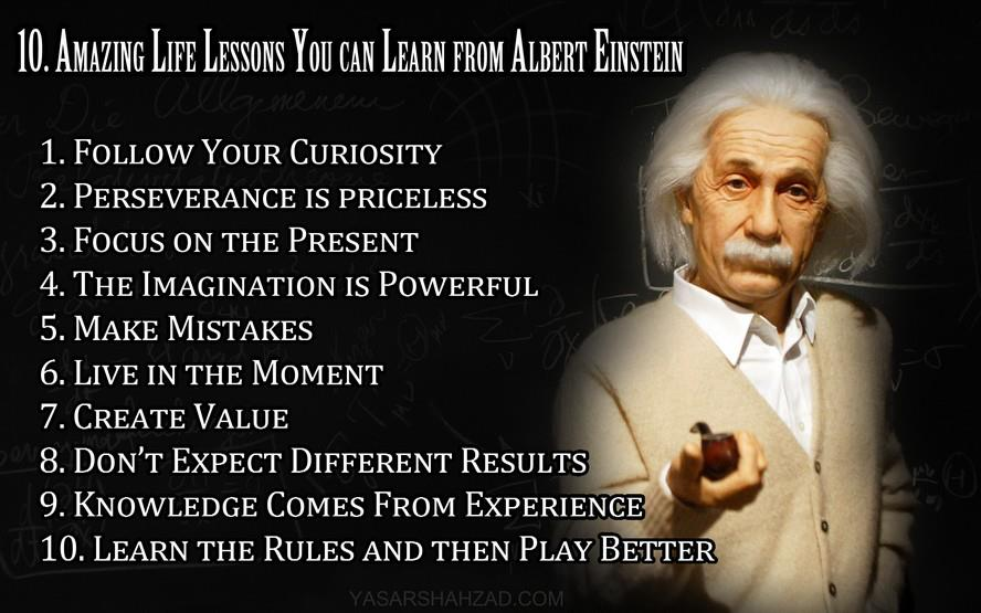 Lesson In Life Quote Fascinating 10 Inspiring Life Lessons & 5 Quotes Via Albert Einstein