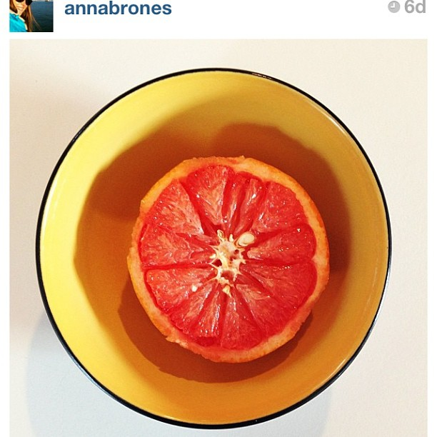 anna brones instagram grapefruit