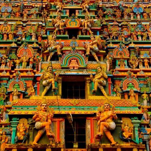 Cidambaram Gopuram detail