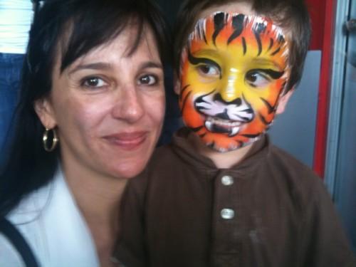 Hijo de Tigra sale pintado