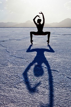 ej yoga woman shadow