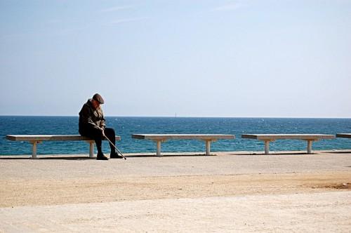 sea bench man