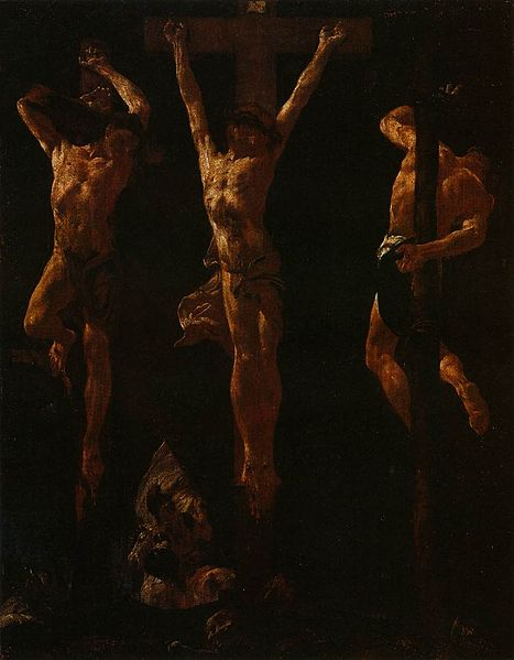 Giovanni Battista: Christ Crucified Between Two Thieves. (Wikimedia Commons)
