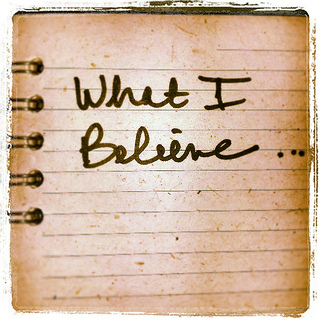 what I believe \ image by lynnhasselberger