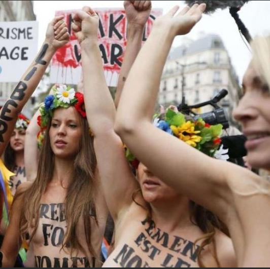 Femen protest.