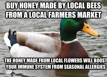 honey local vegan allergies