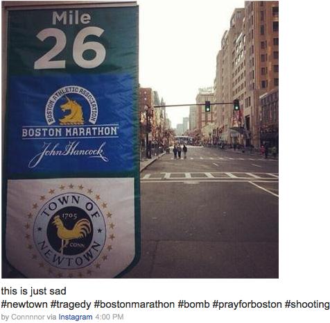 newtown boston marathon