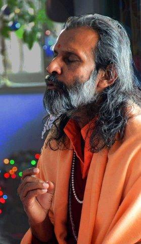 swamiji in deep meditation