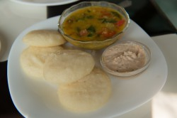 Idli and dosa, a traditional Indian breakfast