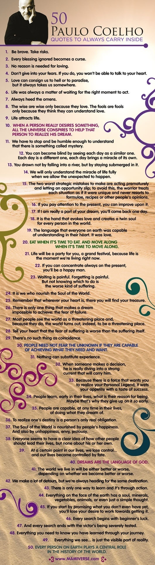 50 paulo coelho quotes for the soul dusty ranft elephant journal source infographicaday com via john kremer