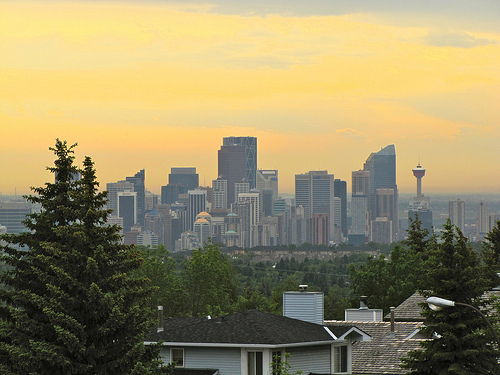 Beautiful Calgary skyline.