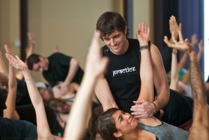 LIBERTY HOTEL BALLROOM DJ YOGA FLOW CLASS WITH KEVAN GALE OF STIL STUDIO
