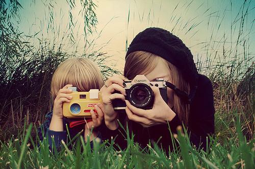 camera child woman