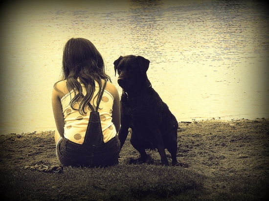 Me and my dog.