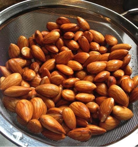 strain almonds