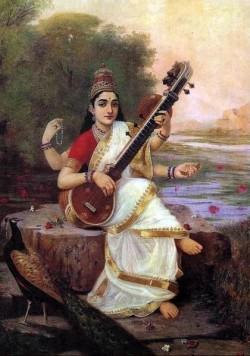 Saraswati goddess Pub domain