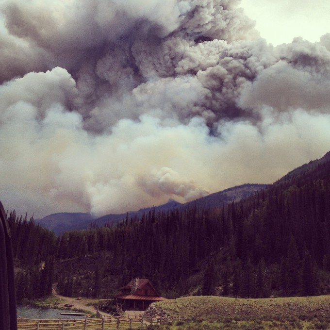 photo taken at the West Fork Complex fires by Jenna Penielle Lyons