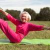Older, happy and yogic.