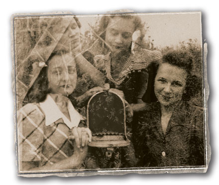 My mother Janie Magdalen Fry, right, and two friends circa 1940. Photographer unknown