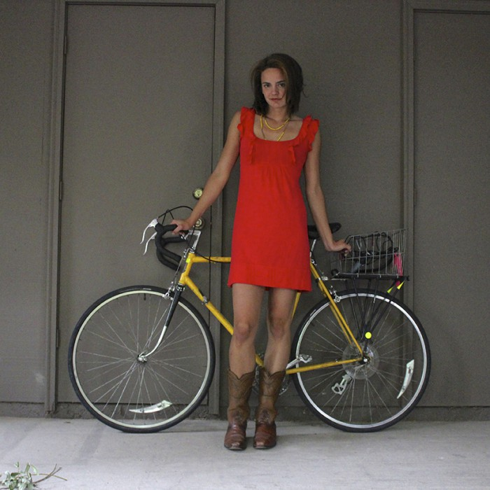 Jeanne Eisenhaure #BikeStylish Red Dress