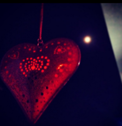 Moon and heart