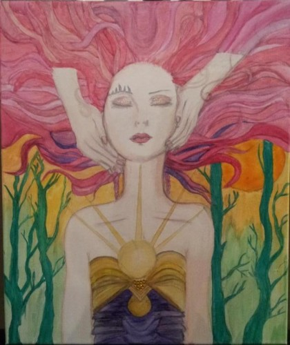 mystical spiritual dreamer woman art
