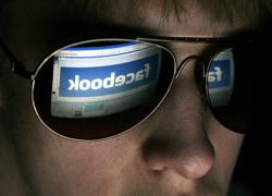 facebook reflection in sunglasses