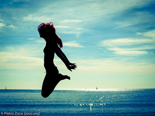 Sexy Woman Jumping