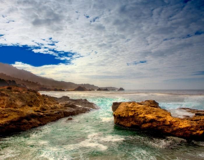 rocky coast and sky