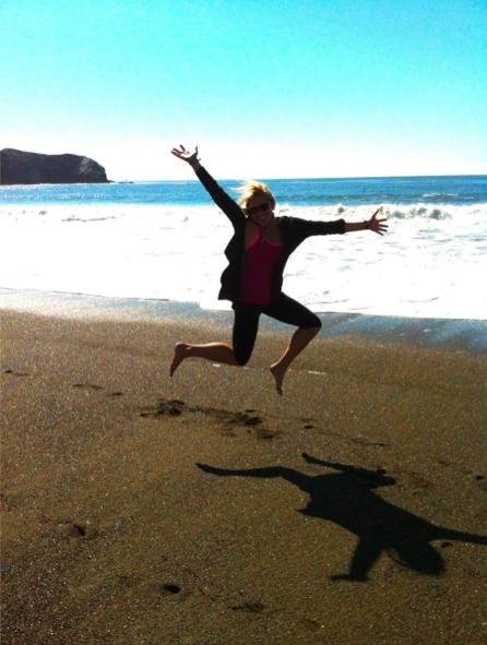 Kristin Brotemarkle beach leap