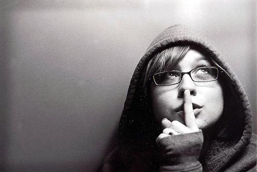 shhh woman quiet girl silent